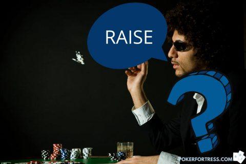 Meningkatkan taruhan Anda sendiri adalah langkah ilegal dalam poker.