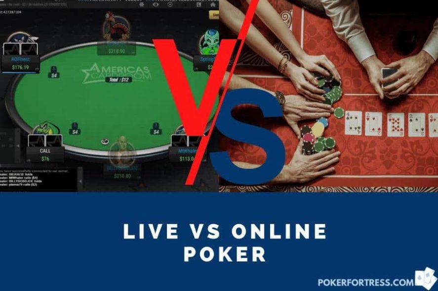 live vs. online poker comparison