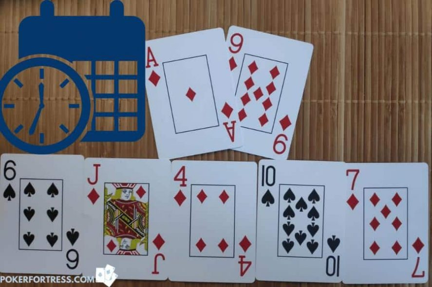 An example of a slow roll in poker.
